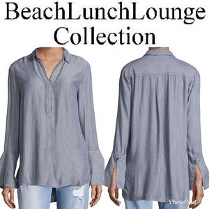 NWT Beach Lunch Lounge Alicia Striped Blouse